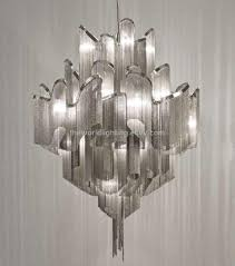 td 120518 chrome metal stand silver fabric modern iron chandelier china purchasing souring agent ecvv com purchasing service platform