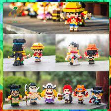 Mô hình one piece lego 3d 100 nhân vật đồ chơi lắp ráp one piece 200-400  chi tiết - Đồ chơi lắp ráp
