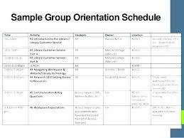 Employee Orientation Template New Employee Orientation Schedule Template New Hire Orientation