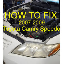 How To Fix Toyota Camry speedometer not working 2007-09 - YouTube
