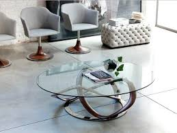 stylish round glasetal coffee table with dining room great collection in modern set