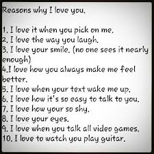 Reasons For Loving You Quotes