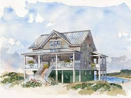 Raised Beach House Plans Elevated Beach House Plans  coastal floor    Coastal Beach House Plans Coastal Cottage House Plans