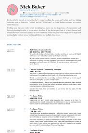 Writer Resume Template Content Writer Resume Template Krida