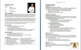 chef s resume resume sample for chef sample resume chef resume sample resume for chef
