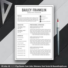 Professional Resume Template Ms Word Cv Template Cover Letter Us