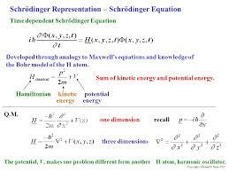 schrödinger representation schrödinger equation