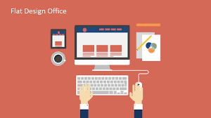 Office Powerpoint Template Flat Design Office PowerPoint Templates SlideModel 2
