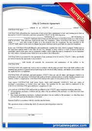 printable utility contractor agreement legal forms legal printable utility contractor agreement legal forms
