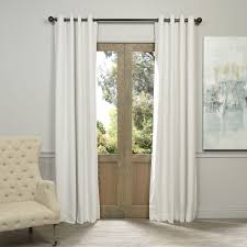 white blackout drapes. Delighful Blackout Shop Exclusive Fabrics Off White Grommet Velvet Blackout Curtain Panel  On  Sale Free Shipping Today Overstockcom 6778054 Intended Drapes