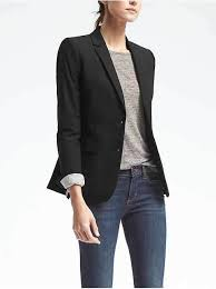 petite long and lean fit lightweight wool blazer