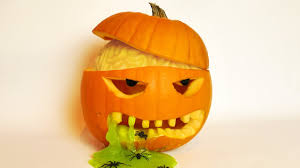 Pumpkin Carving Halloween Pumpkin Carving Idea With Brain And Slime Youtube