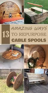 diy furniture 13 amazing ways to repurpose cable spools