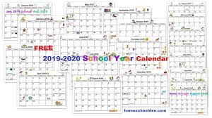 Printable School Year Calendars Free 2019 2020 Calendar Printable Homeschool Denhomeschool