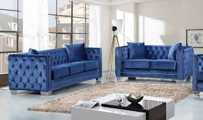 light blue furniture. Brilliant Light Meridian Furniture Reese 2PC Modern Tufted Light Blue Velvet Sofa Loveseat  Set Nailhead Inside R