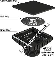shower floor drain square riser by ebbe america