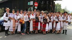 romanian people. thousands of romanians perform record-breaking folk dance in costume romanian people o