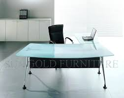 home office glass desk. Office Terrific Furniture Glass Desk Astounding L Shaped With Hutch Computer Home Executive E