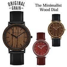 gise original grain originalgrain clock wood watch men gap dis uni leather rakuten global market