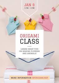 Making Flyer Online Origami Class Poster Flyer 5x7in Vorlage Online Designen Crello
