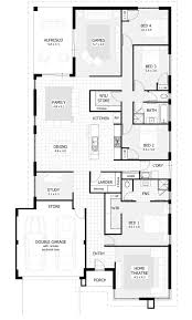 4 Bedroom House Plans Home Designs Celebration Homes Bedroom House Plans For Homes