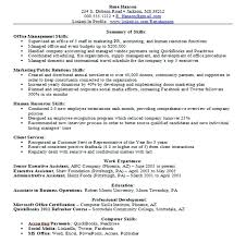 Sample Resume Skills Free Example Resumes Basic Free Examples Of