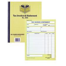 Spirax Tax Invoice And Statement Book No.500 | Officeworks