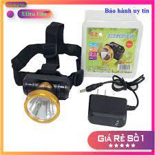 ⭐ Đèn pin đội đầu 1 bóng led siêu sáng tích điện tặng kèm pin và sạc ⭐ Đèn  pin đội đầu một bóng mini 50W pin cực trâu - Đèn &