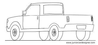 Pickup Truck Drawing, Pencil, Sketch, Colorful, Realistic Art Images ...