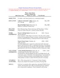 Graduate Nursing Resume Examples Cover Letters For Nursing Job