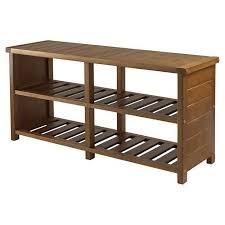 Image Diy Details About Entryway Shoe Bench Teak Finish Storage Wooden Wood Organizer Shelves Furniture Ebay Entryway Shoe Bench Teak Finish Storage Wooden Wood Organizer