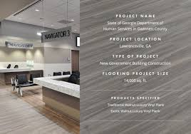 parterre s luxury vinyl flooring selected for new government building in gwinnett county ga