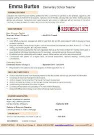 elementary teacher resume examples high school best  elementary