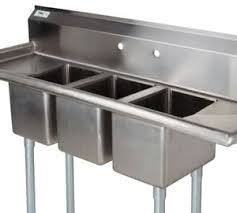 commercial stainless steel sink with drainboard. This Versatile Regency Three Compartment Stainless Steel Commercial Sink Features Divided 10 Intended With Drainboard