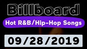 Billboard Top 50 Hot R B Hip Hop Rap Songs September 28 2019