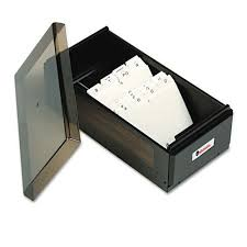 Universal Business Card File Box Wlid Holds 600 2 600 Card Cap