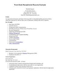 Front Desk Resume Enchanting Pin By Gina GalvanVega On Resume Pinterest Sample Resume