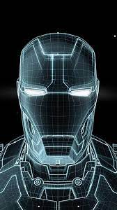 Iron Man of 3D wire frame - iPhone6 ...