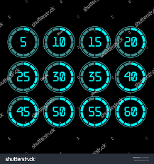 Set Timer Five Minutes Digital Countdown Timer Five Minutes Interval Stock Vector Royalty