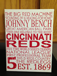 Small Picture Subway Art Cincinnati Reds Baseball Rustic Looking CanvasHome