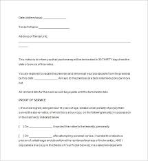 30 day notice to move out letter notice to vacate 15 free samples examples format download