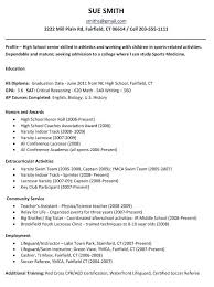 College Application Resume Samples High School Resume Template For