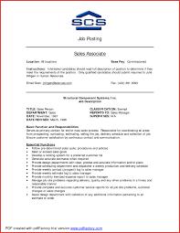 Job Description Of A Sales Associate For A Resume Good Resume Description For Sales Associate Fresh Retail Sales 48