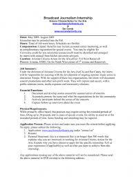 Journalism Internship Cover Letter Journalism Internship Cover Letter