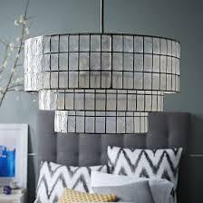 capiz tiered chandelier
