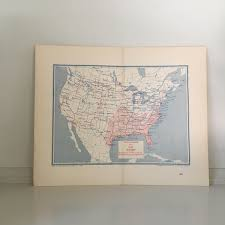 C 1893 Humidity Climate Map Humidity In July Antique