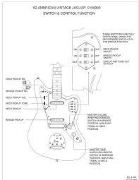 49 best musical images on pinterest guitar building, electric Jaguar Electric Guitar Wiring Diagram fender jaguar switch functions 2 Pickup Guitar Wiring