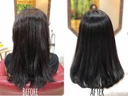 髪が硬くて多い髪質は癖が出てくると頭が大きくなるので綺麗に縮毛矯正を