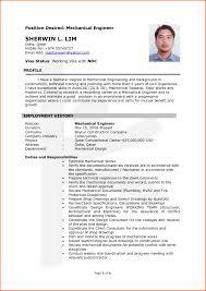 Impressive Mechanical Design Resume Pdf With Mechanical Design