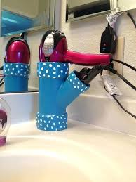 blow dryer curling iron holder hair dryer and iron holder such a cool idea diy hair blow dryer curling iron holder